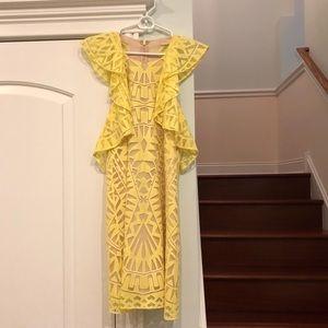 BCBG Yellow Lace Dress